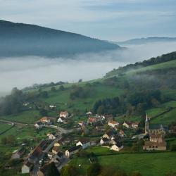 Vue aérienne du village