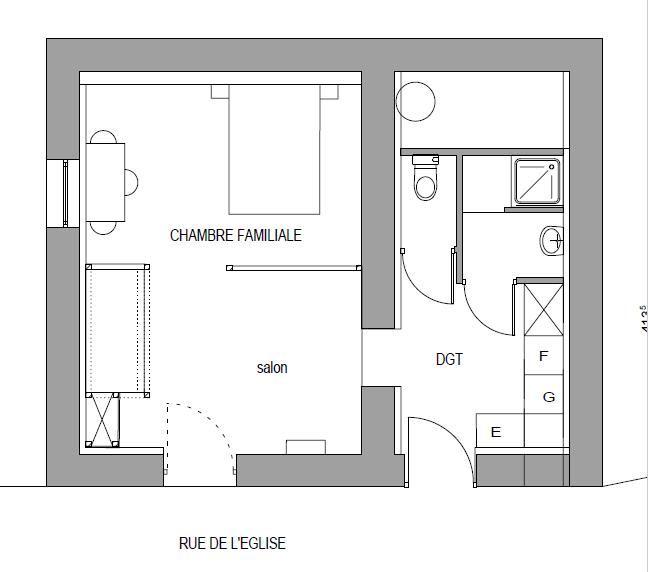 Chambre familiale plan